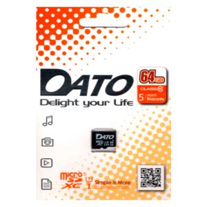 Карта памяти Dato microSDXC UHS-I (Class 10) 64GB